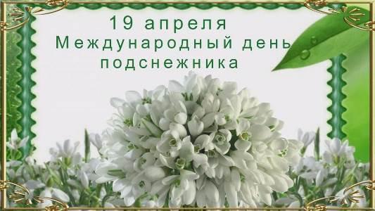 19 апреля день лесного цветка