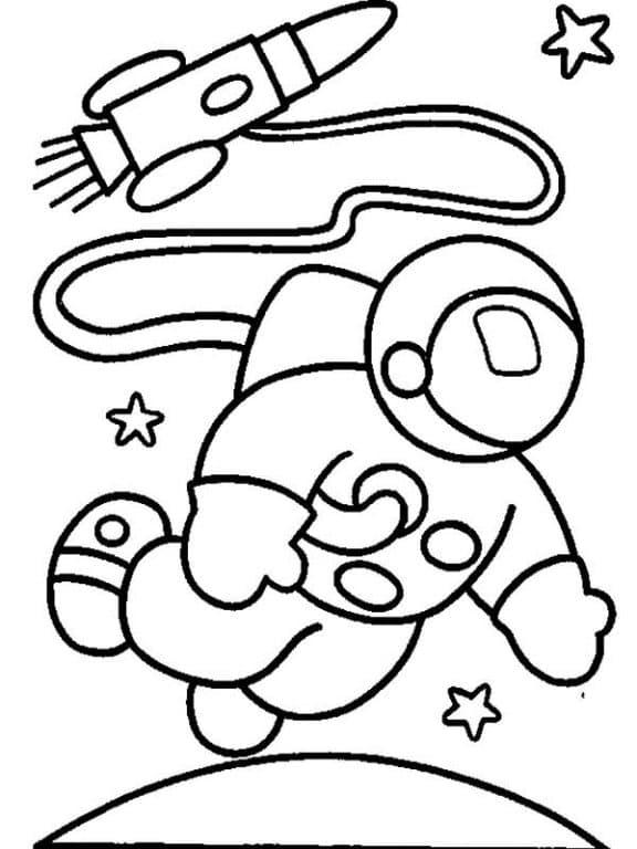 День космонавтики: рисунки раскраски (для детей, школьников)